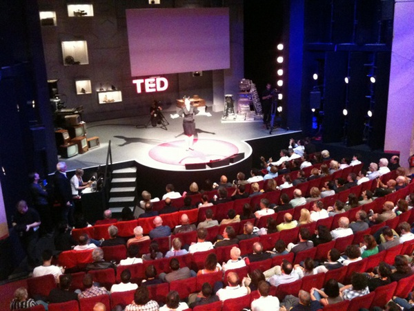 True #TED moment: power failure, Chris invited lovely lady to...